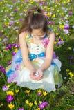Glückliches Kinderporträt Ostern lizenzfreies stockfoto