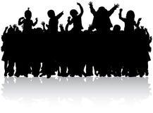 Lizenzfreies stockbild glückliche kleine tanzende und springende