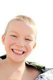 Glückliches Kindportrait Stockbild