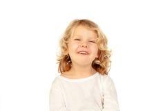 Glückliches kleines blondes Kind Stockbilder