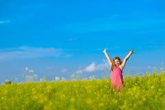 Glückliches kleines Mädchen Stockfoto