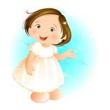 Glückliches kleines Mädchen Vektor Abbildung