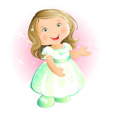 Glückliches kleines Mädchen (blond) Vektor Abbildung