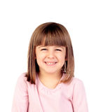 Glückliches kleines Mädchenlächeln Lizenzfreie Stockfotos