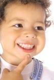 Glückliches Kleinkinddenken Lizenzfreie Stockbilder