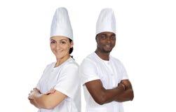 Glückliches Kochteam lizenzfreie stockfotografie