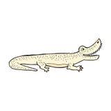 glückliches Krokodil der komischen Karikatur Stockfotos