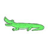 glückliches Krokodil der komischen Karikatur Stockfoto