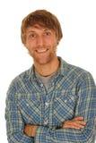 Glückliches Lächeln des jungen Mannes Lizenzfreie Stockfotos