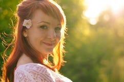 Glückliches lächelndes Mädchen Lizenzfreie Stockbilder