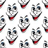 Glückliches lächelndes nahtloses Hintergrundmuster des Gesichtes Stockbild