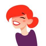 Glückliches lachendes Mädchen stock abbildung