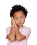 Glückliches lateinisches Kinderschlafen Lizenzfreie Stockfotos