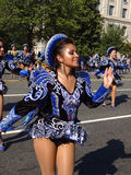 Glückliches Latina an der Parade Lizenzfreies Stockbild