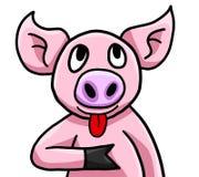 Glückliches lustiges kleines Schwein ist dumm vektor abbildung