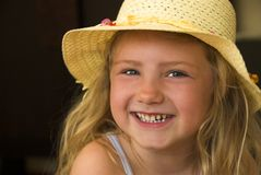 Glückliches Mädchen! Lizenzfreies Stockfoto