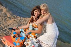 Glückliches Mädchen auf Ferien Lizenzfreie Stockfotografie