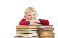 Glückliches Mädchen mit Büchern stockbilder