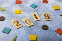 glückliches Mädchen mit Reisenfall Grußkarte für das neue Jahr Lizenzfreies Stockfoto