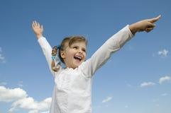 Glückliches Mädchenportrait Lizenzfreies Stockfoto