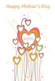 Glückliches Mütter Tagesdesign Stockfoto