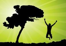 Glückliches Mannspringen Lizenzfreies Stockfoto