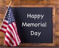 Glückliches Memorial Day -Zeichen stockbild