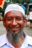 Glückliches moslemisches Gesicht Lizenzfreies Stockfoto