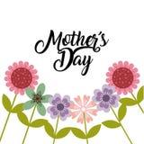 Glückliches Mutter ` s Tagesdesign Stockbilder