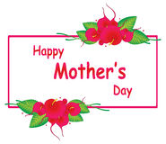 Glückliches Muttertagdesign Stockfoto