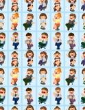 Glückliches nahtloses Muster des Büroangestellten Lizenzfreie Stockfotos