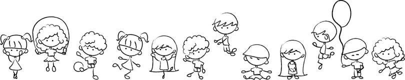 Glückliches nettes Kindspiel Lizenzfreie Stockfotografie