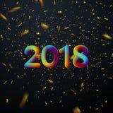 Glückliches neues 2018-jähriges lizenzfreie abbildung