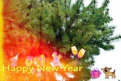 Glückliches neues Jahr Stockfotos