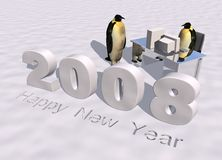 Glückliches neues Jahr 2008 Lizenzfreie Stockbilder
