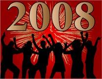 Glückliches neues Jahr 2008 Stockfotografie