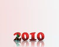 Glückliches neues Jahr 2010 Stockfotografie
