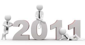 Glückliches neues Jahr 2011 Stockfotografie