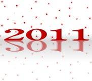 Glückliches neues Jahr 2011 stockfoto