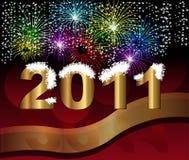 Glückliches neues Jahr 2011 des Hintergrundes Lizenzfreie Stockbilder