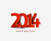 Glückliches neues Jahr 2014 Lizenzfreies Stockbild
