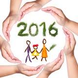 Glückliches neues, 2016, Jahr! Lizenzfreie Stockfotografie
