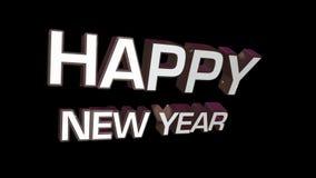 Glückliches neues Jahr stock video