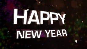 Glückliches neues Jahr stock footage