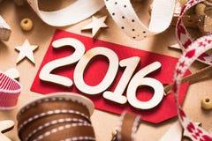 Glückliches 2016 neues Jahr Stockbild