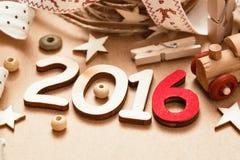 Glückliches 2016 neues Jahr Stockfotografie