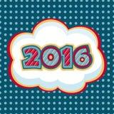 2016 Glückliches neues Jahr Lizenzfreies Stockbild