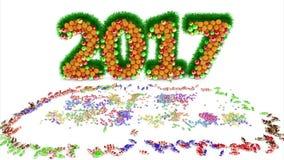 Glückliches neues Jahr 2007 stock video
