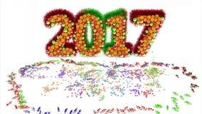 Glückliches neues Jahr 2007 stock video footage