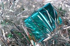 Glückliches neues Jahr Blauer Kasten Stockbilder
